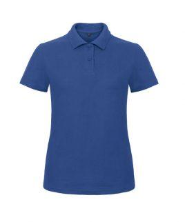 Blue ladies polo shirt 1