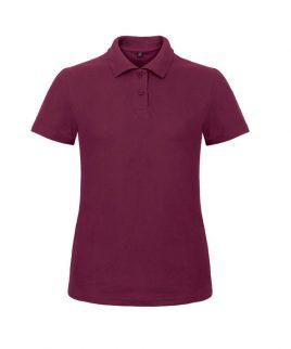 Maroon ladies polo shirt