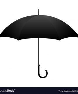 black open umbrella vector 22905361