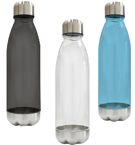 transparent waterbottle