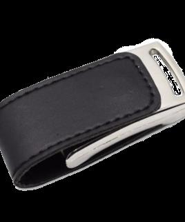 PU Leather USB Flash Drive Black 1
