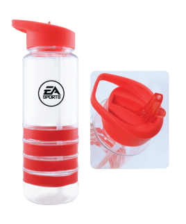 Sports Water Bottle with Straw and band
