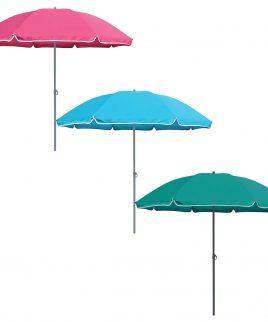 342340 tropic garden parasol 1 8m teal