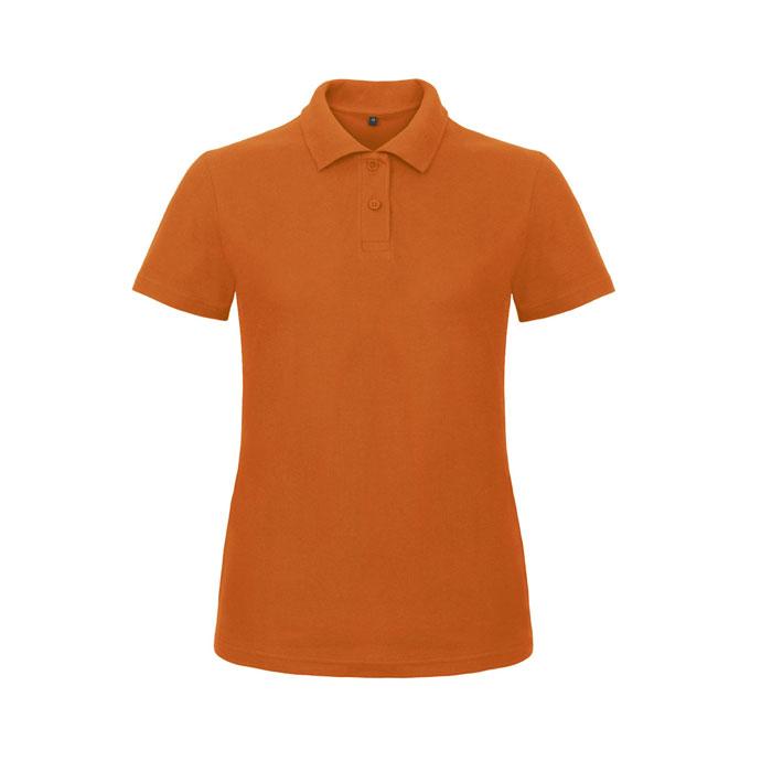 Orange ladies polo shirt