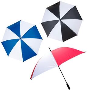 Paraguas bicolor 152 cm de diametro y 8 gajos TEX013