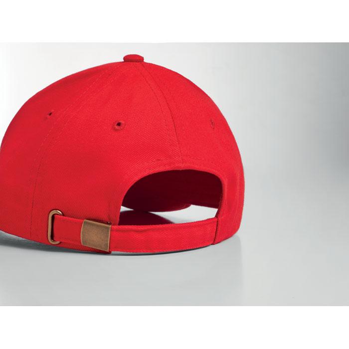 Red base ball brush cotton cap 2