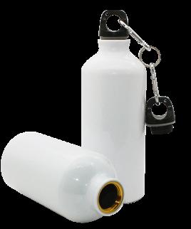 White sublimation water bottle