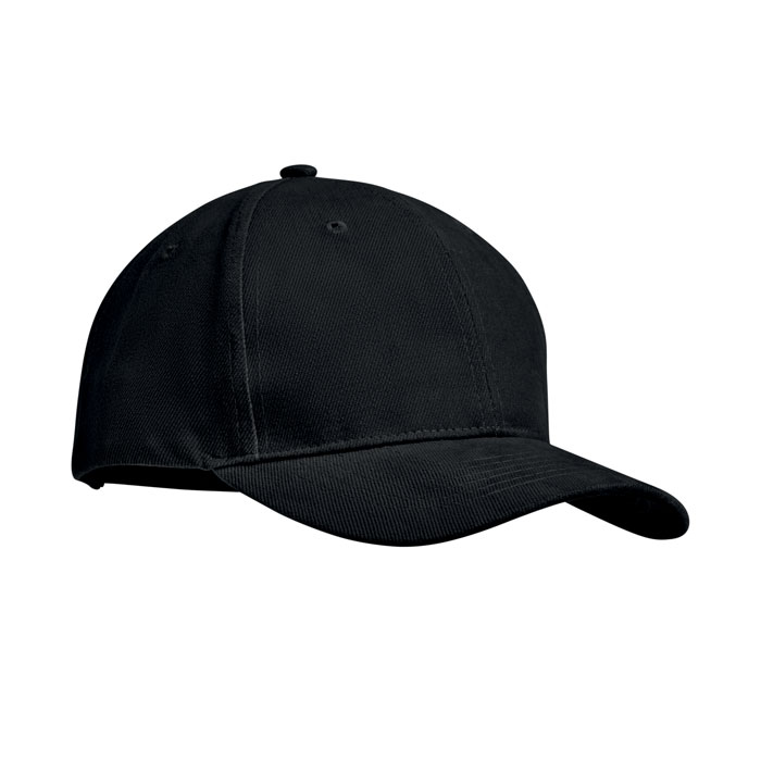 black brush cotton cap