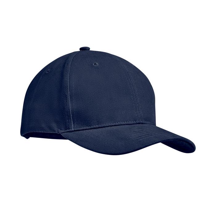 navy blue brush cotton cap